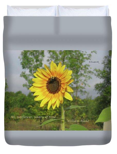 Ah, Sunflower Duvet Cover