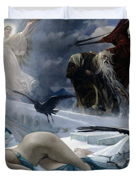 Ahasuerus At The End Of The World Duvet Cover