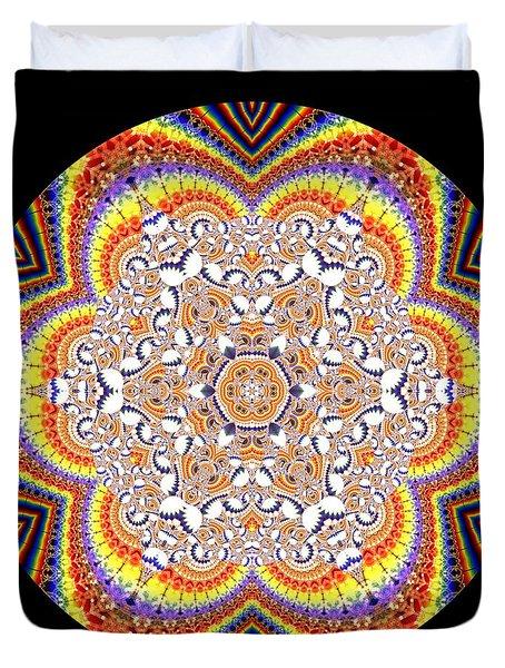 Duvet Cover featuring the digital art Ahau 6.2 by Robert Thalmeier