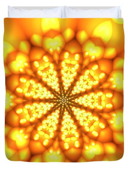 Ahau 9 Duvet Cover by Robert Thalmeier
