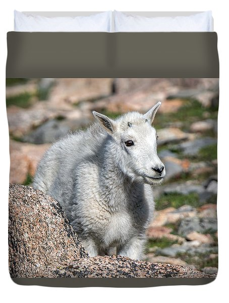 Duvet Cover featuring the photograph Ahhh Da Baby by Stephen  Johnson