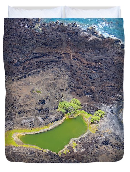Ahihi Kinau Natural Reserve Duvet Cover by Ron Dahlquist - Printscapes