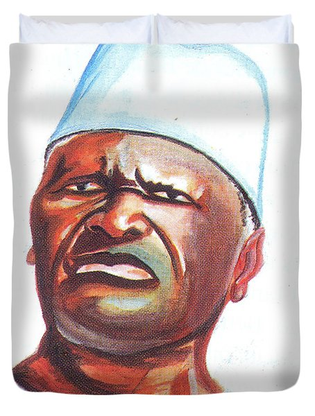 Ahmed Sekou Toure Duvet Cover by Emmanuel Baliyanga