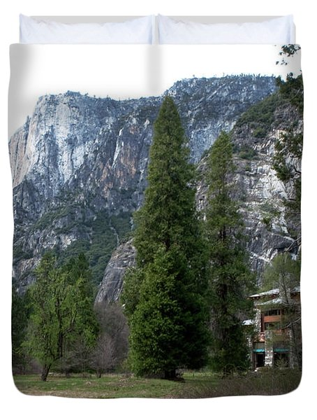 Duvet Cover featuring the photograph Ahwahnee Setting by Lorraine Devon Wilke
