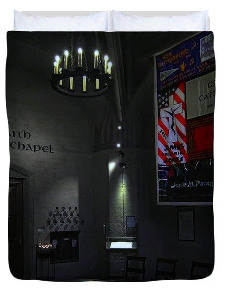 Aids Interfaith Memorial Chapel - San Francisco Duvet Cover by Daniel Hagerman