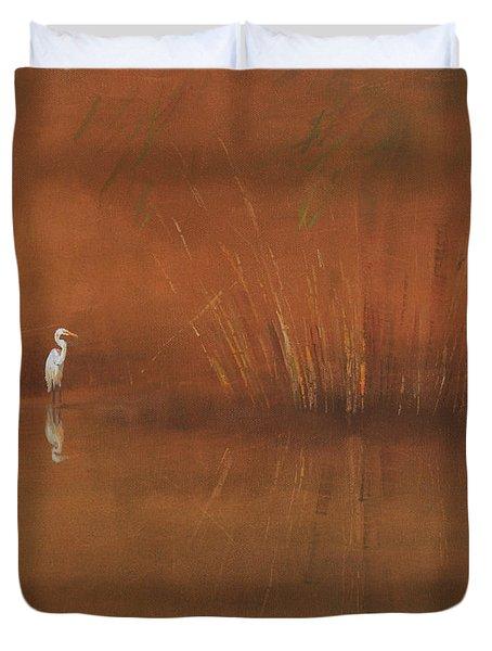 Egret Duvet Cover