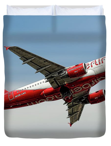 Air Berlin Airbus A319-112 Duvet Cover