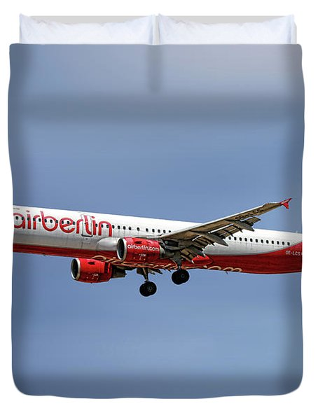 Air Berlin Airbus A321-211 Duvet Cover