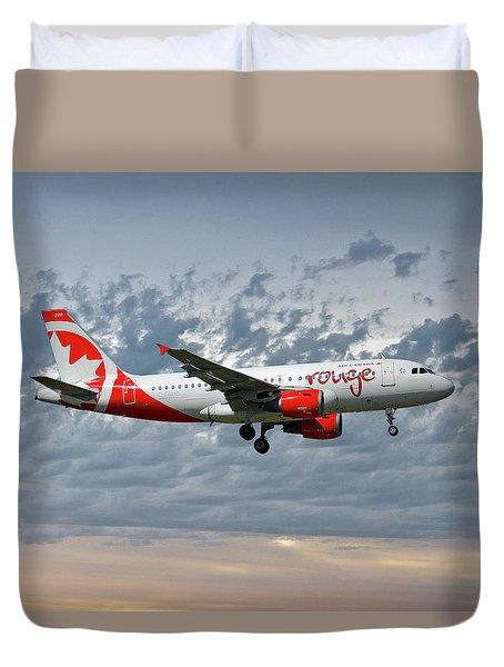 Air Canada Rouge Airbus A319-114 Duvet Cover