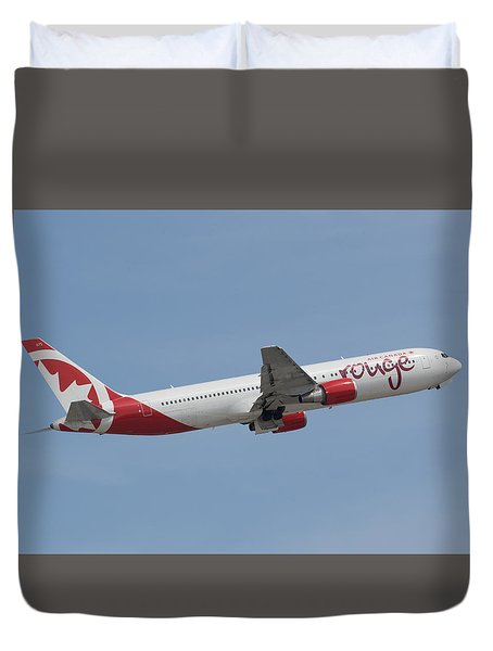 Air Canada Rouge Duvet Cover