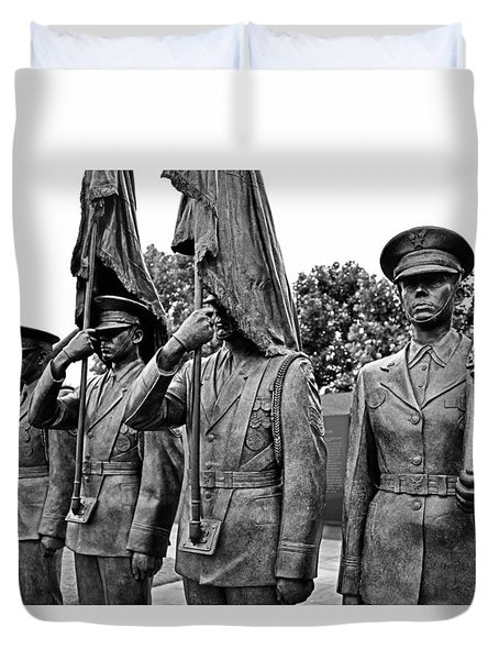 Air Force Memorial - Honor Guard Sculpture Duvet Cover