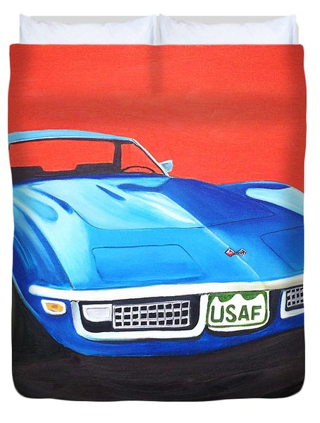 Air Force Vette Duvet Cover