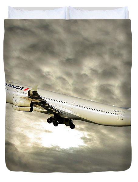 Air France Airbus A340-313 115 Duvet Cover