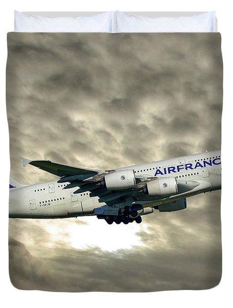 Air France Airbus A380-861 115 Duvet Cover