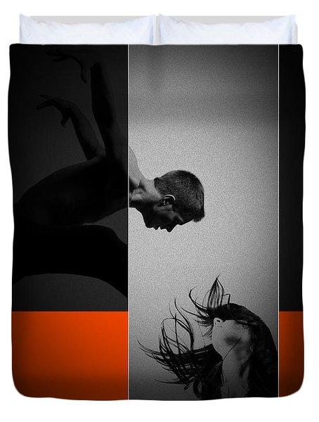 Air Kiss Duvet Cover by Naxart Studio