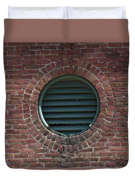 Air Vent In Brick Wall Duvet Cover