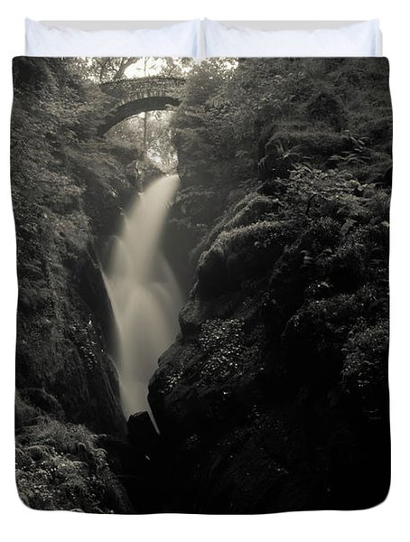 Aira Force - Black And White Duvet Cover