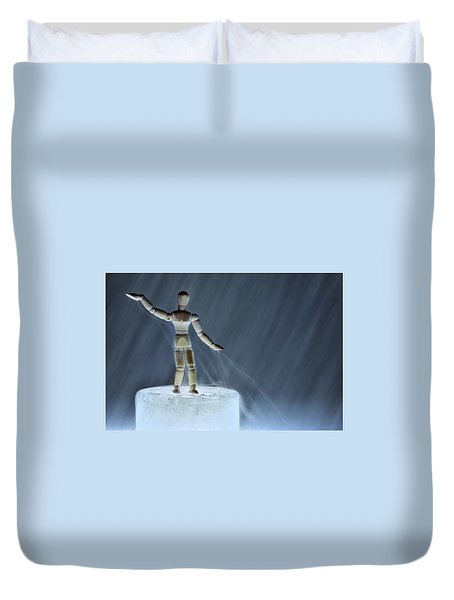 Duvet Cover featuring the photograph Airbender by Mark Fuller