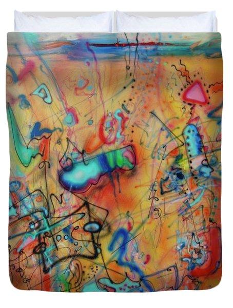 Digital Landscape, Airbrush 1 Duvet Cover