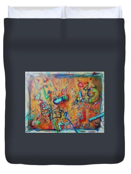 Digital Landscape, Airbrush 1 Duvet Cover