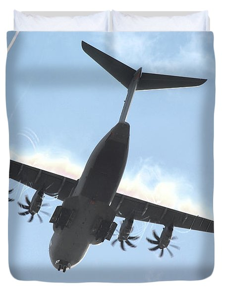 Airbus A400m Duvet Cover by Tim Beach