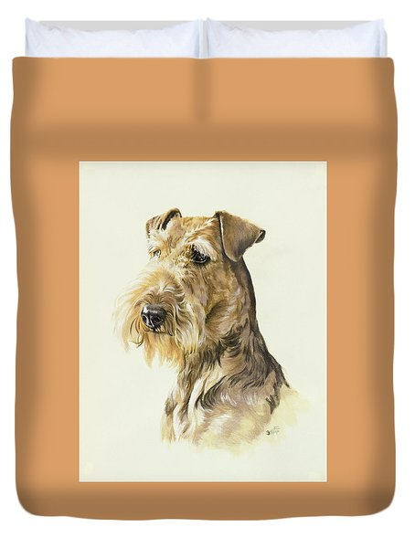 Airedale Duvet Cover by Barbara Keith