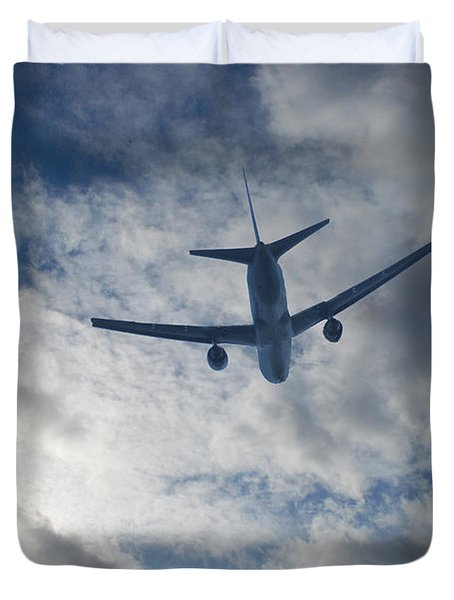 Airliner 01 Duvet Cover by Mark Alan Perry