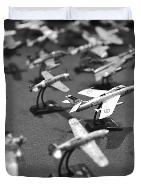 Airplane Collection - Black And White Duvet Cover