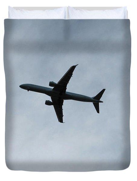 Airplane Silhouette Duvet Cover