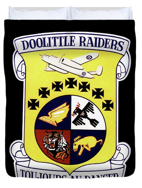 Airplanes Military Doolittle Raiders Decal Duvet Cover