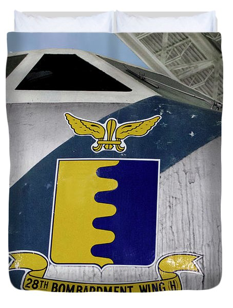 Airplanes Military Strategic Air Command 28th Bombardment Wing H Decal Duvet Cover