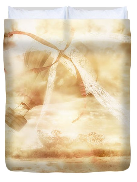 Airs Of Freewill. Gusts Of Fate Duvet Cover