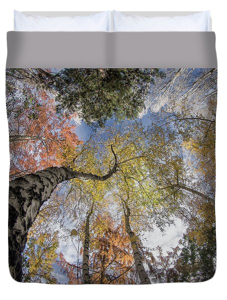 Airy Autumn Colors Duvet Cover