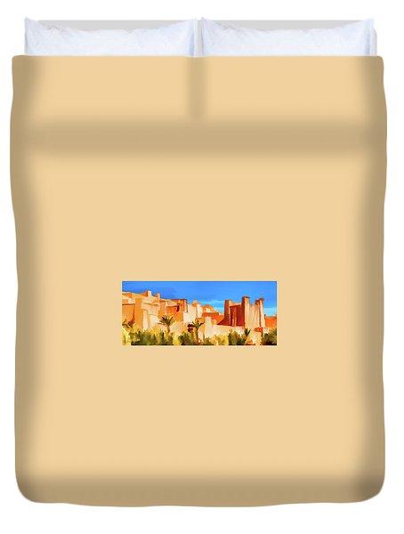 Ait Benhaddou Morocco Duvet Cover by Wally Hampton