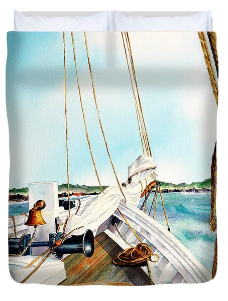 A.j. Meerwald-coming Home Duvet Cover