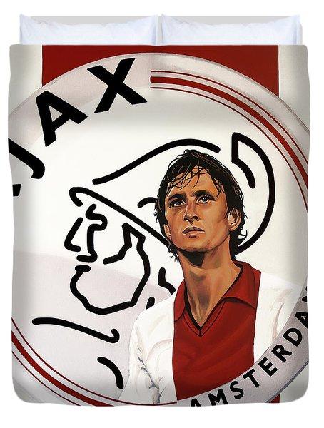 Ajax Amsterdam Painting Duvet Cover