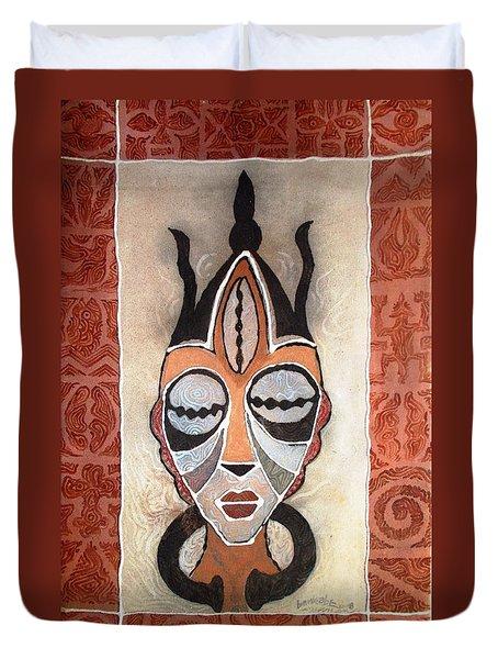 Aje Mask Duvet Cover by Bankole Abe