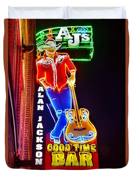 Aj's Good Time Bar Duvet Cover