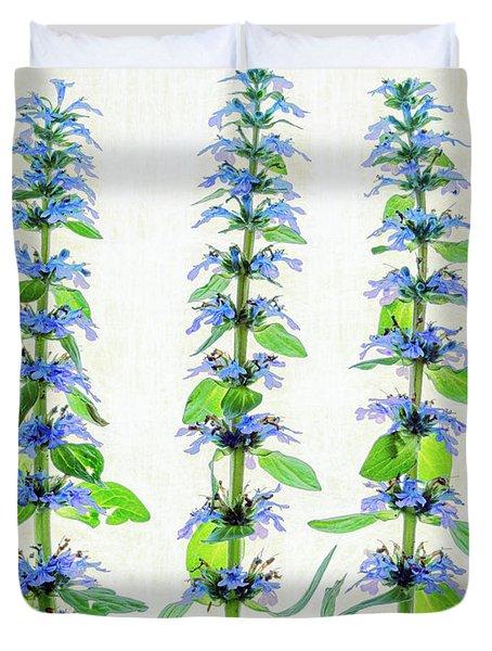 Ajuga Blooms Duvet Cover