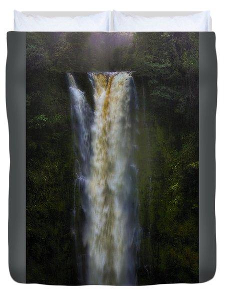 Duvet Cover featuring the photograph Akaka Falls by Ellen Heaverlo