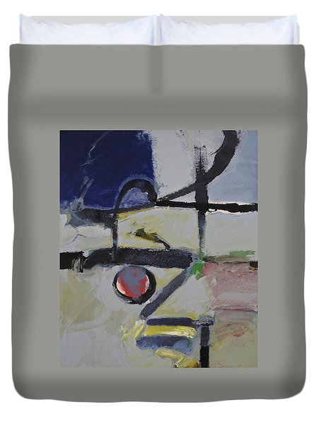 Duvet Cover featuring the painting Akira by Cliff Spohn
