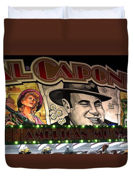 Al Capone On Funfair Duvet Cover