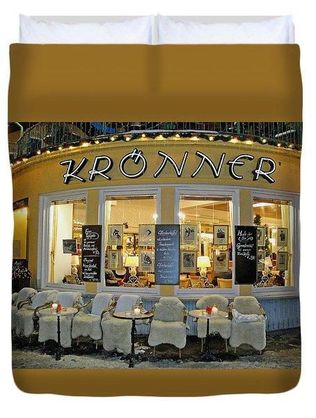 Al Fresco Dining Bavarian Style Duvet Cover