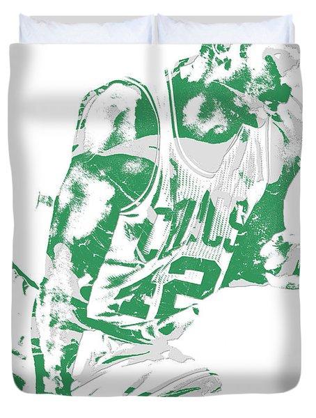 Al Horford Boston Celtics Pixel Art 5 Duvet Cover