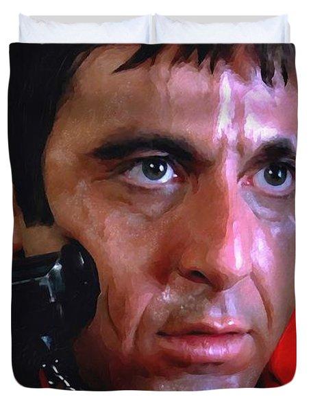 Al Pacino @ Scarface #1 Duvet Cover by Gabriel T Toro
