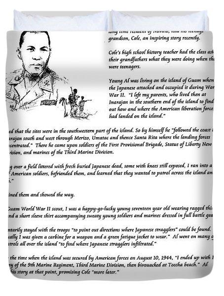 Al Rios Guam Ww II Story Duvet Cover