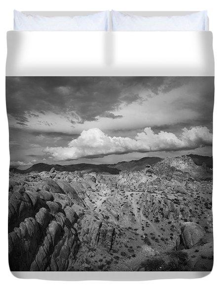 Alabama Hills Storm Duvet Cover