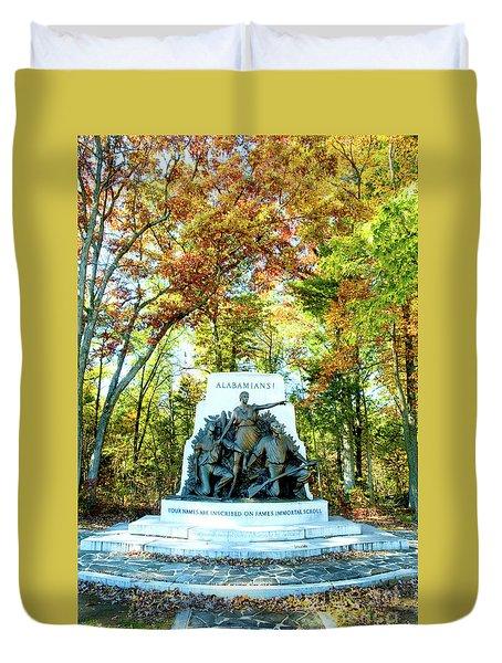 Alabama Monument At Gettysburg Duvet Cover