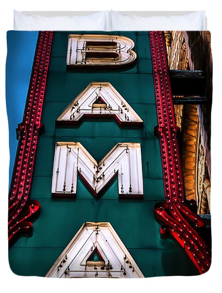 Alabama Theater Sign 1 Duvet Cover by Phillip Burrow