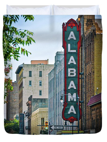 Alabama Theatre Duvet Cover